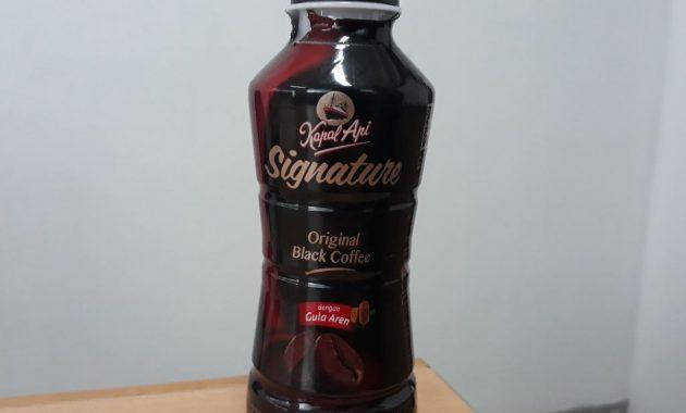 kapal api signature original black coffee dengan gula aren 630x380 Kopi Botol Siap Minum Paling Enak